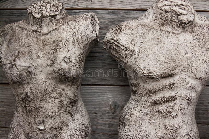 De mannelijke en vrouwelijke decoratie van het torsohuis stock fotografie