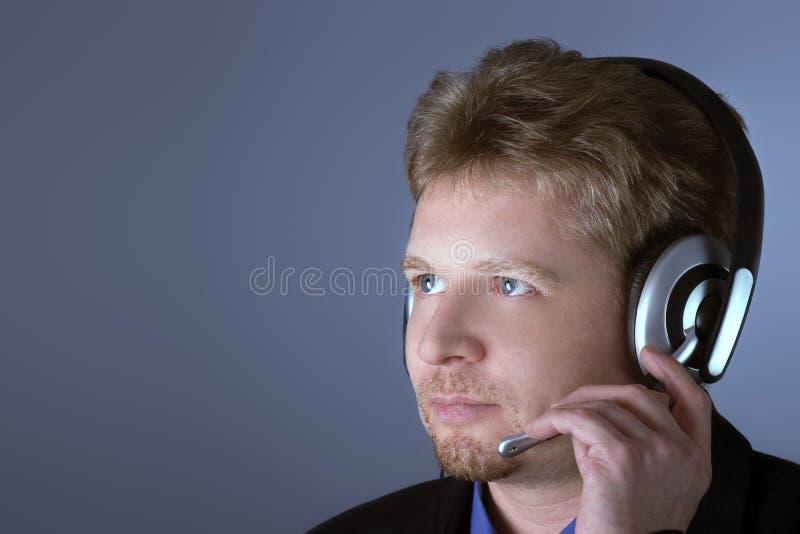 De mannelijke klantendienst stock foto