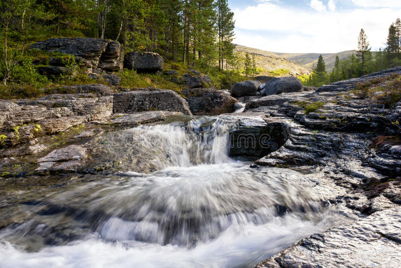 De Mannepahk-rivier royalty-vrije stock foto's