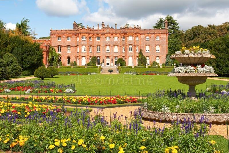 De Manor en de tuin van Hughenden stock afbeeldingen