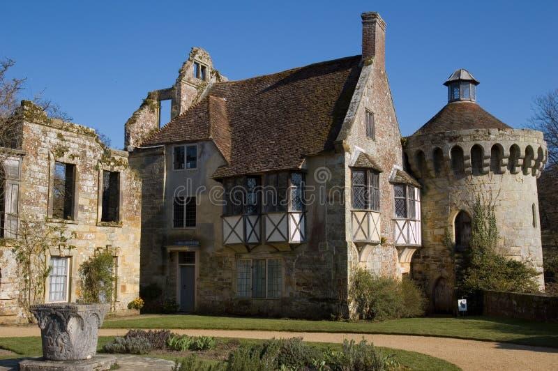De manor van het Kasteel van Scotney stock fotografie