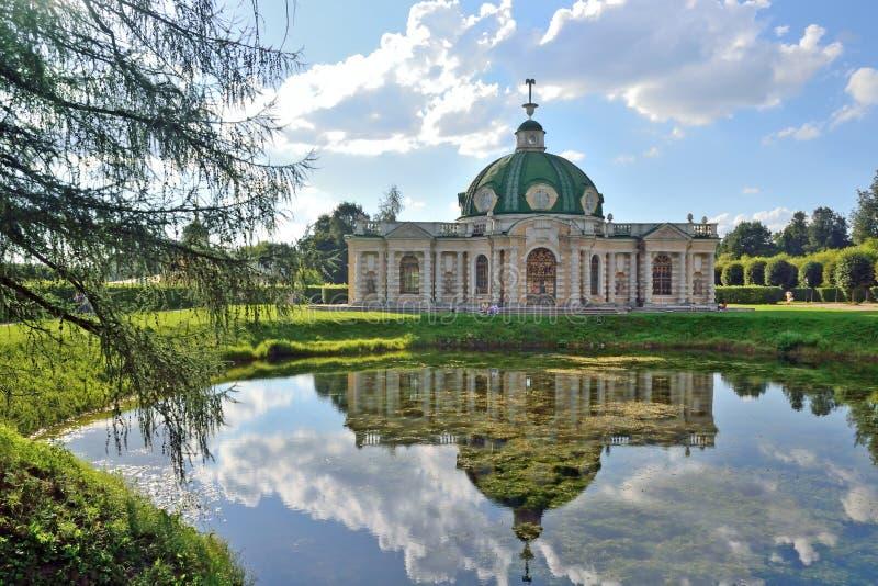 De manor van Kuskovo van het parkensemble in Moskou royalty-vrije stock fotografie