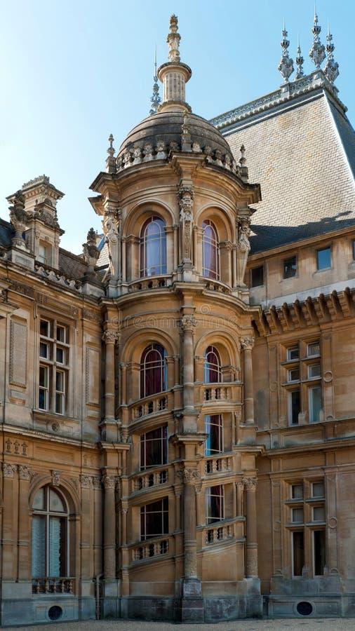 De Manor van Waddesdon buiten mening van trap stock afbeeldingen