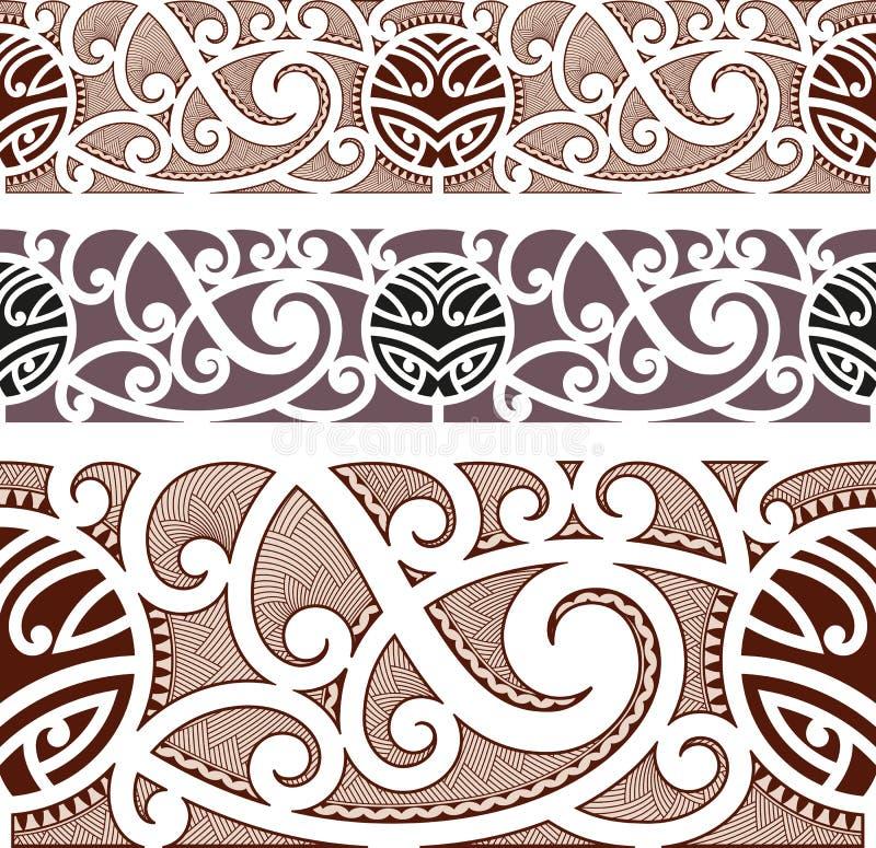 De Maori stileerden naadloos patroon vector illustratie