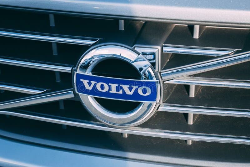 8 de março de 2018, cortiça, Irlanda - detalhe do logotipo de Volvo imagens de stock royalty free
