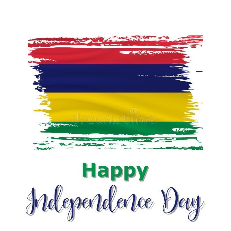 12 de março, fundo de Mauritius Independence Day ilustração stock