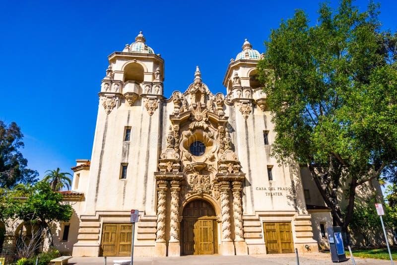 19 de março de 2019 San Diego/CA/EUA - casa Del Prado Theater no parque do balboa fotos de stock
