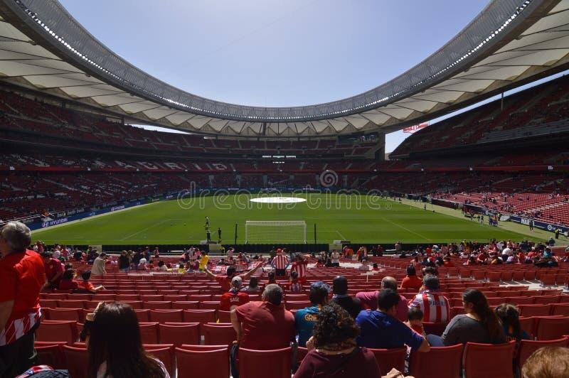 17 de mar?o de 2019 Futebol das mulheres Clube Barcelona de Atletico De Madri Contra Futbol Aux?lio hist?rico do recorde mundial  fotos de stock