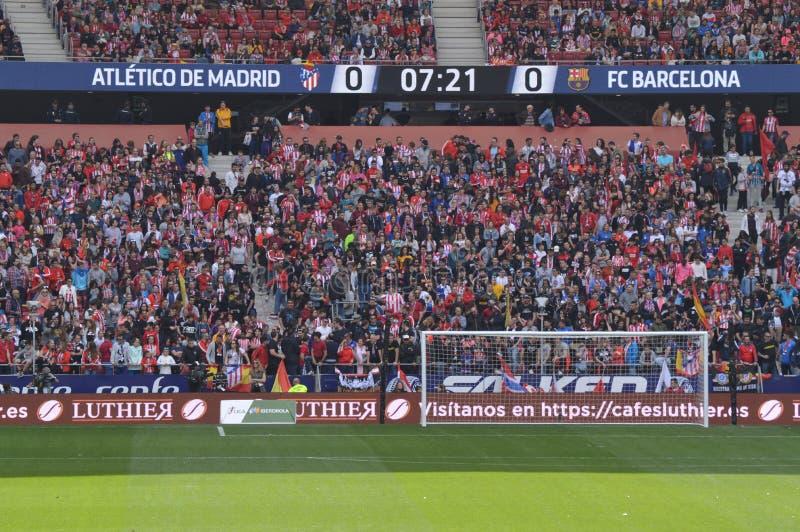 17 de mar?o de 2019 Futebol das mulheres Clube Barcelona de Atletico De Madri Contra Futbol Aux?lio hist?rico do recorde mundial  imagens de stock royalty free