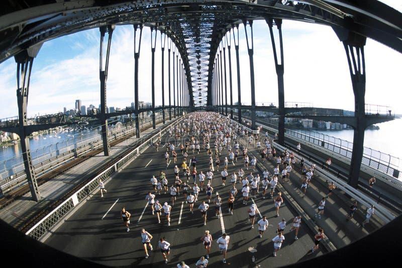 De marathon stelt Sydney 01 in werking stock afbeeldingen