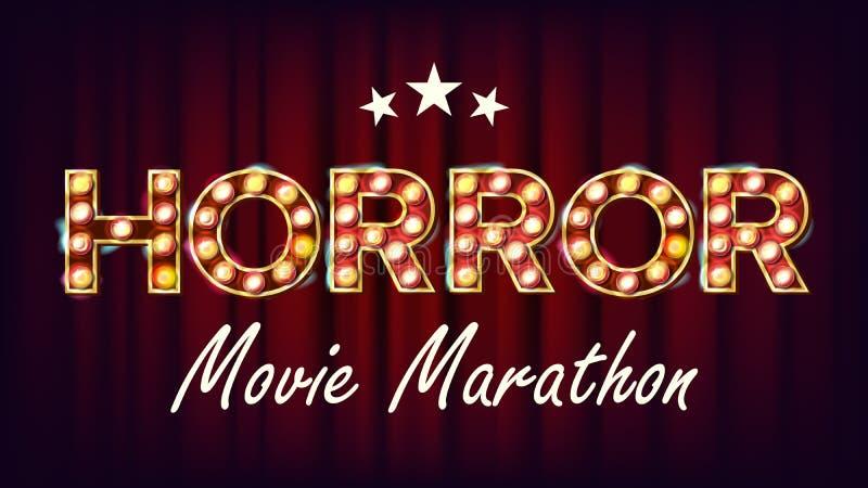De Marathon van de achtergrond verschrikkingsfilm Vector r r modern royalty-vrije illustratie