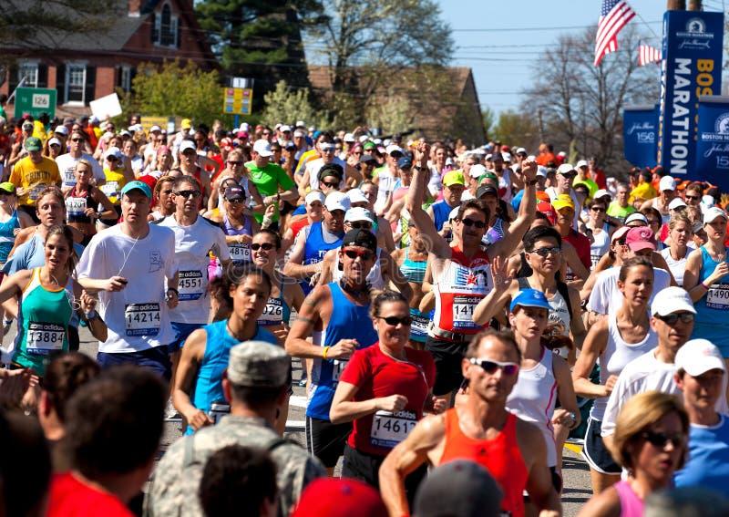 De Marathon van Boston stock fotografie