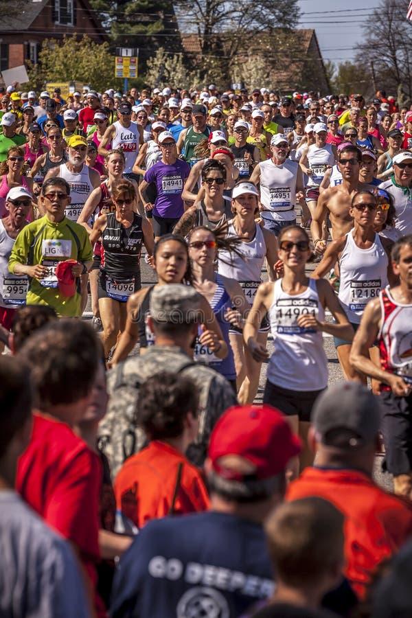 De Marathon 2012 van Boston stock foto