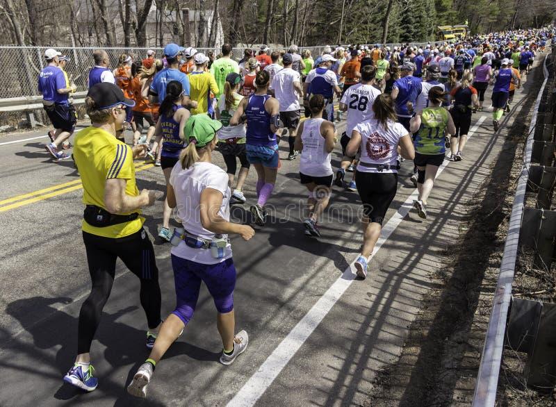 De Marathon 2014 van Boston stock afbeelding
