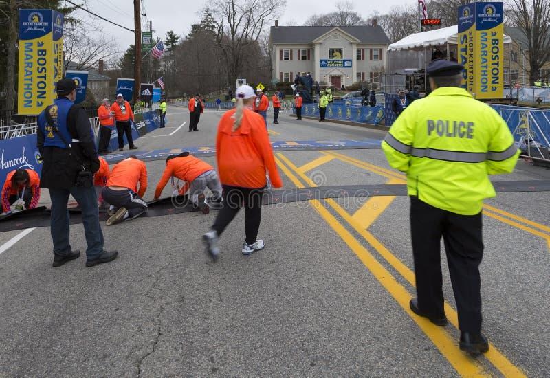 De Marathon 2015 van Boston royalty-vrije stock afbeeldingen