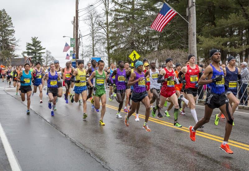 De Marathon 2015 van Boston stock foto's