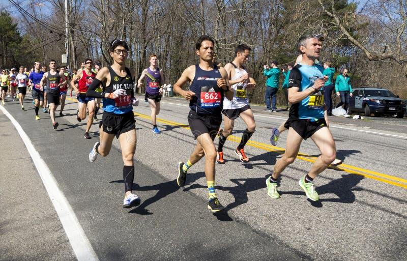 De Marathon 2016 van Boston stock fotografie