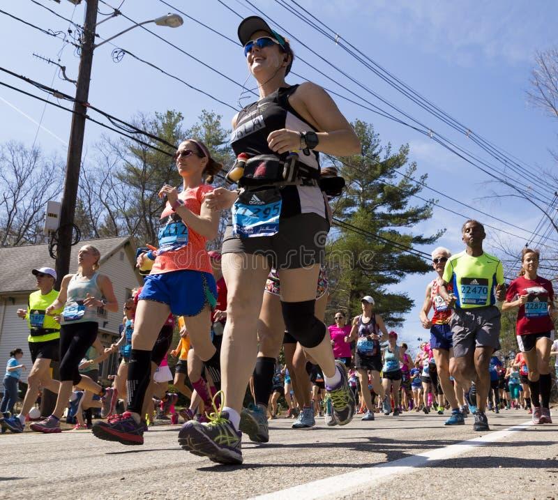 De Marathon 2016 van Boston stock foto