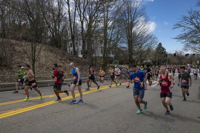 De Marathon 2019 van Boston stock fotografie