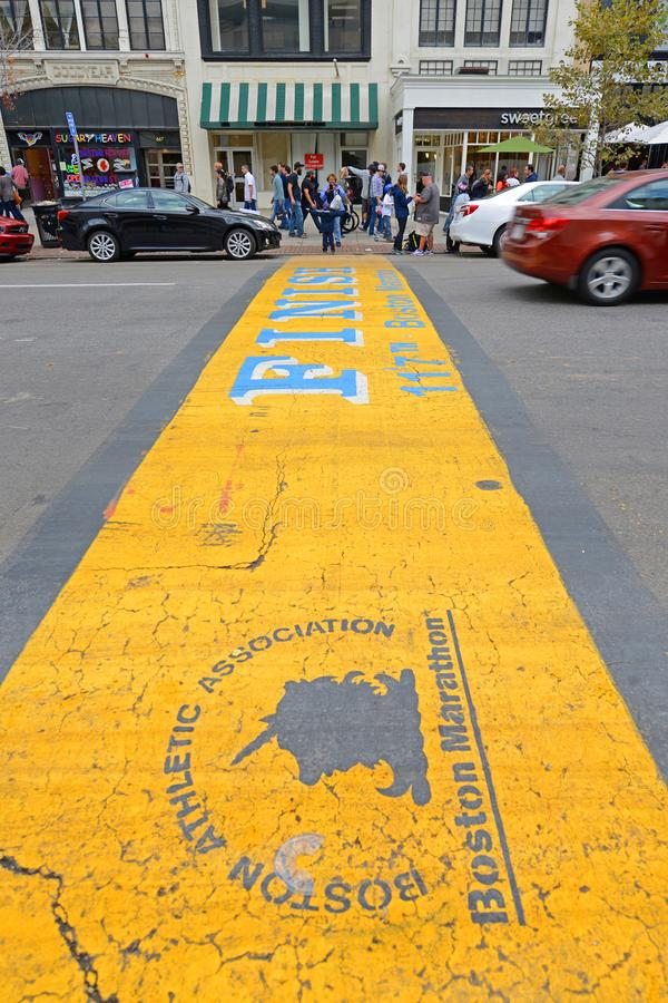De Marathon van Boston beëindigt Lijn, Boston, de V.S. royalty-vrije stock fotografie