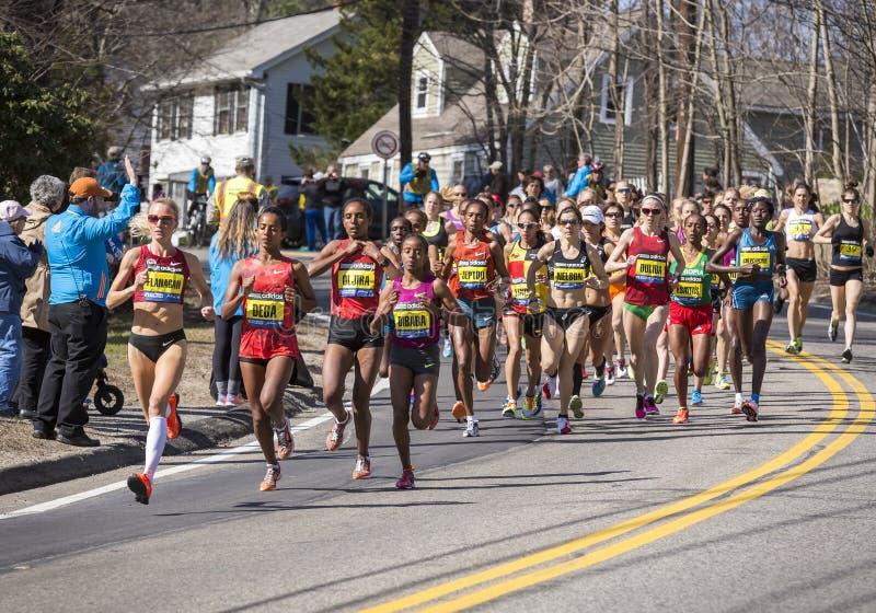 De Marathon 2014 van Boston in Massachusetts, de V.S. stock fotografie