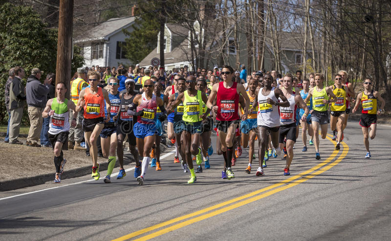 De Marathon 2014 van Boston in Massachusetts, de V.S. royalty-vrije stock foto