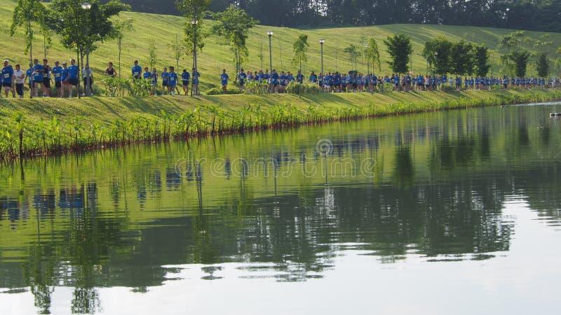 De Marathon van de Punggolwaterweg royalty-vrije stock fotografie