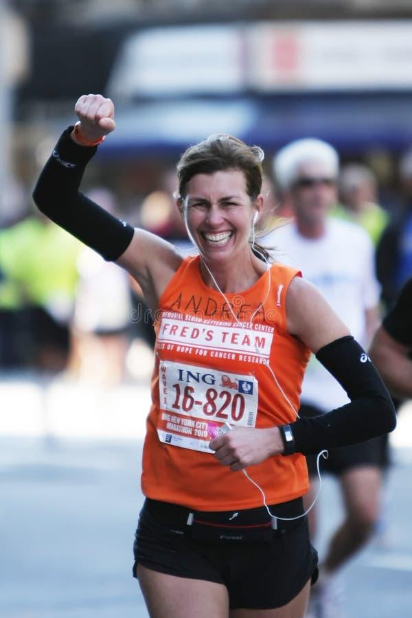 De Marathon van de Stad van ING New York, Agent stock afbeelding