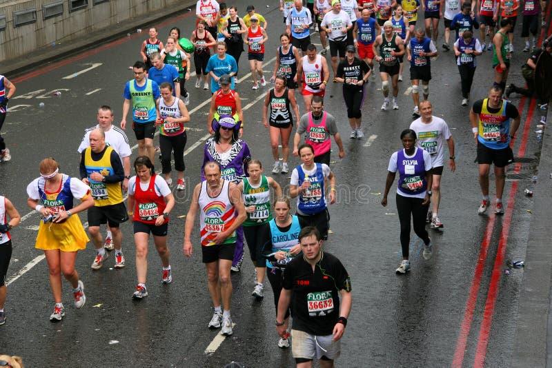 De marathon van Londen royalty-vrije stock afbeelding