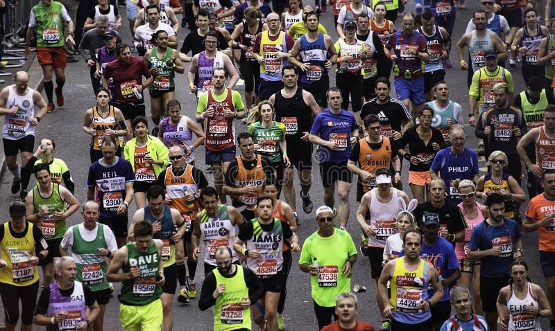 2015, de Marathon van Londen stock afbeelding