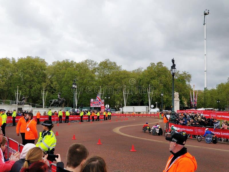 De Marathon 2019 van Londen stock afbeelding