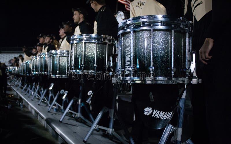 De Marcherende Ridders Drumline van UCF stock afbeeldingen