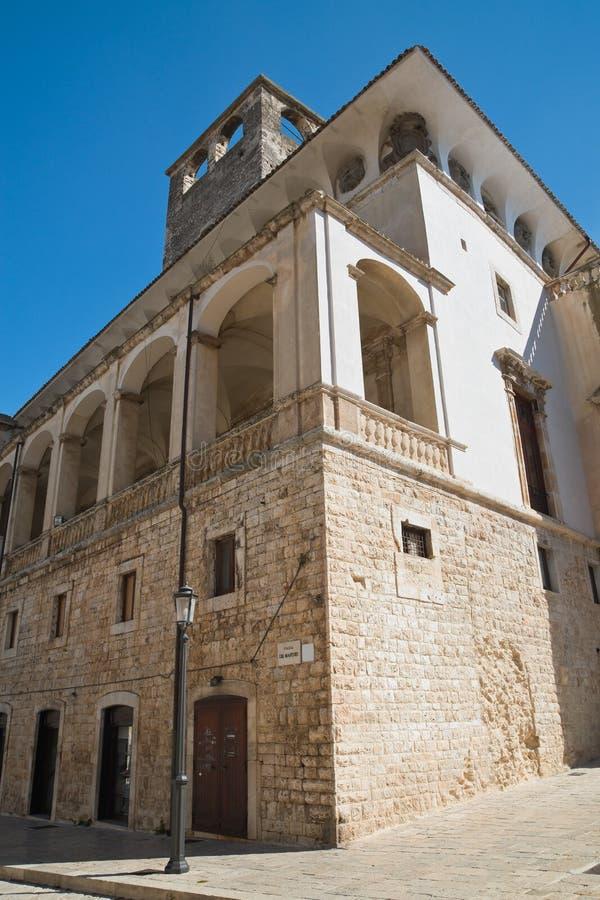 De Mari Palace. Acquaviva delle fonti. Puglia. Italy. Perspective of the De Mari Palace. Acquaviva delle fonti. Puglia. Italy stock images