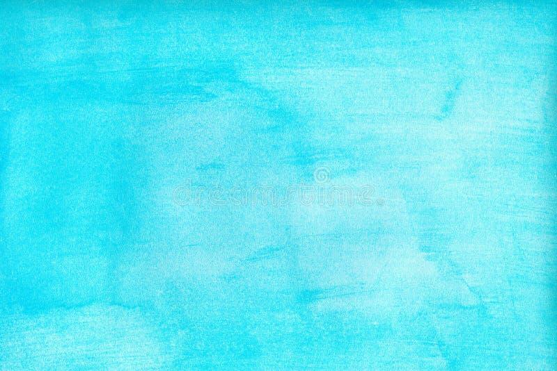 De mariene of marineblauwe waterverfgradiënt vult achtergrond Watercolourvlekken Samenvatting geschilderd malplaatje met document royalty-vrije illustratie
