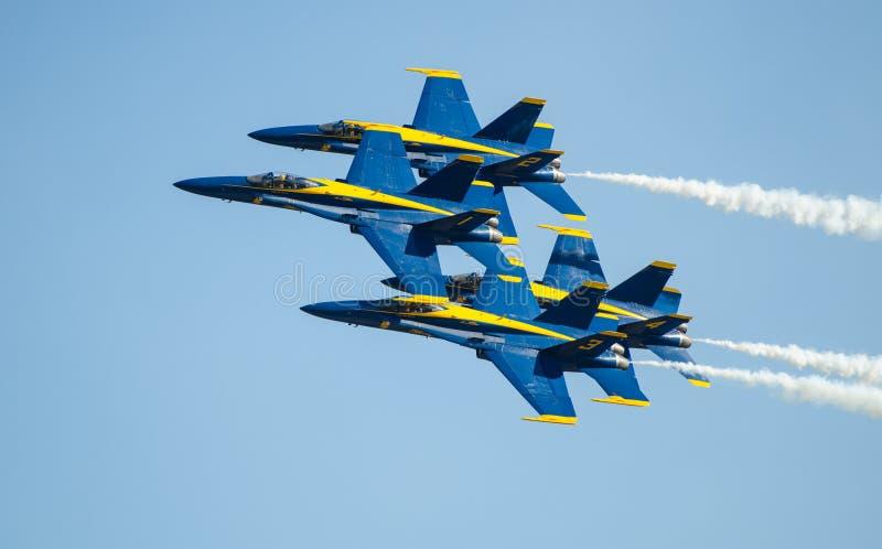 De Marineblauwe Engelen Airshow van de V.S. stock foto's