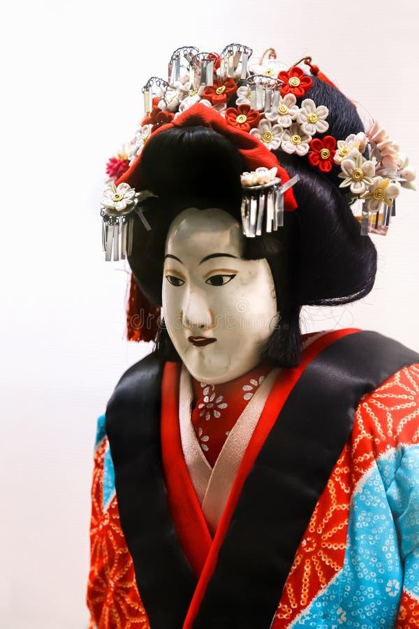 De marionet die in Bunraku gebruikte (Japans Marionettenspel stock foto's
