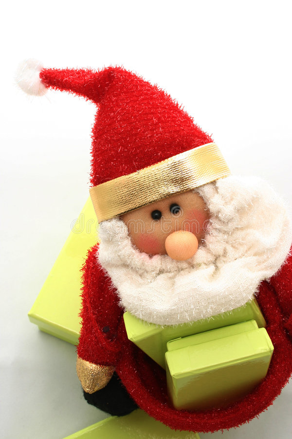 De marionet van de kerstman stock afbeelding