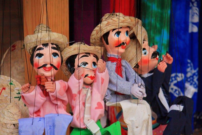 De Marionet van Mexicanen stock fotografie