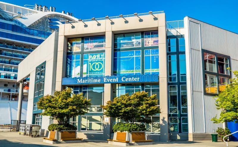 De maritieme waterkant van Seattle van het Gebeurteniscentrum royalty-vrije stock foto's