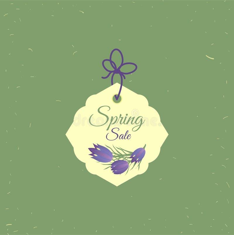 De markering van de de lenteverkoop De markeringsontwerp van de bannersaffiche, EPS 10 van het bonmalplaatje vector, voor het gem stock illustratie