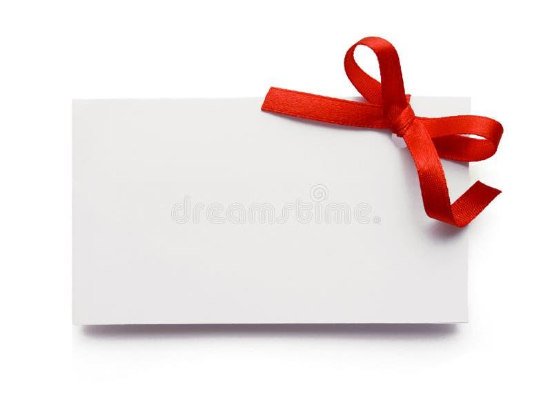 De markering van de gift stock foto
