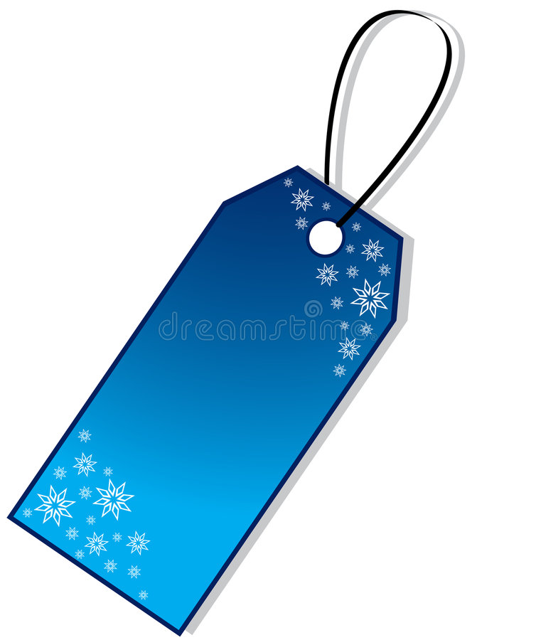 De Markering van de Gift van Kerstmis royalty-vrije illustratie