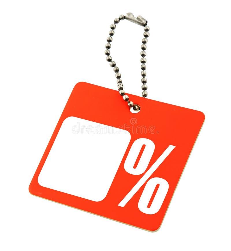 De markering van de verkoop met percentensymbool stock afbeeldingen