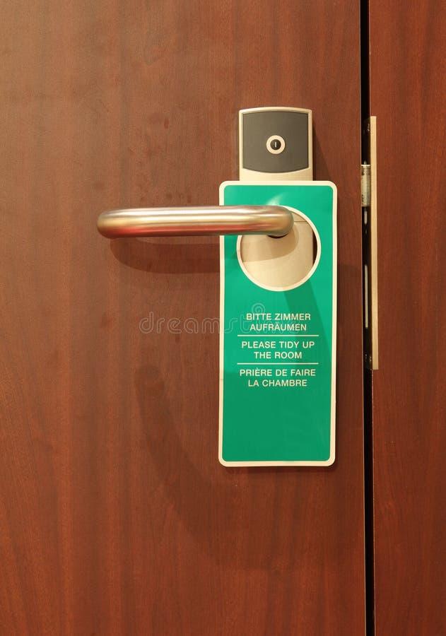 De markering van het hotel, maakt schoon. stock foto's