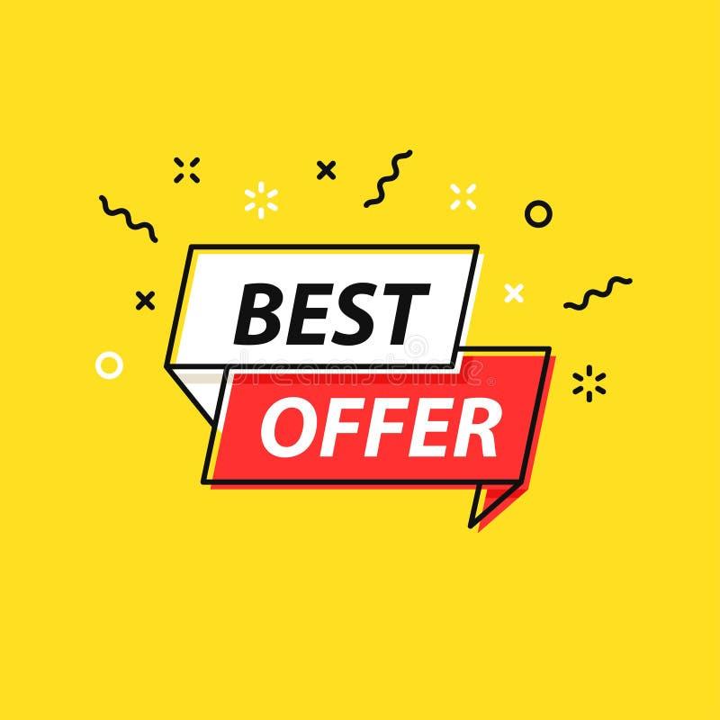 De markering van de verkoop Speciale aanbieding, grote verkoop, korting, beste prijs, megaverkoopbanner Winkel of online het wink vector illustratie