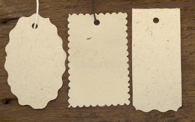 De markeringen of de etiketten van de boom stock foto
