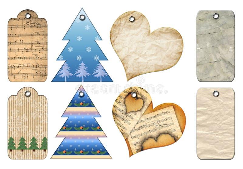 De markeringen van de gift van verschillende vormen. vector illustratie