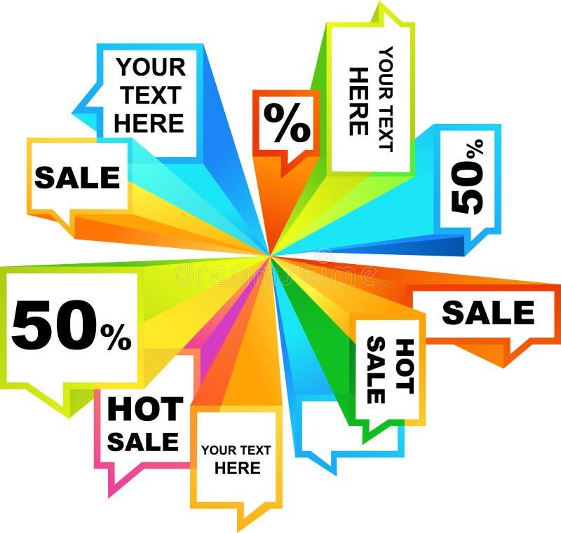 De markeringen van de verkoop vector illustratie