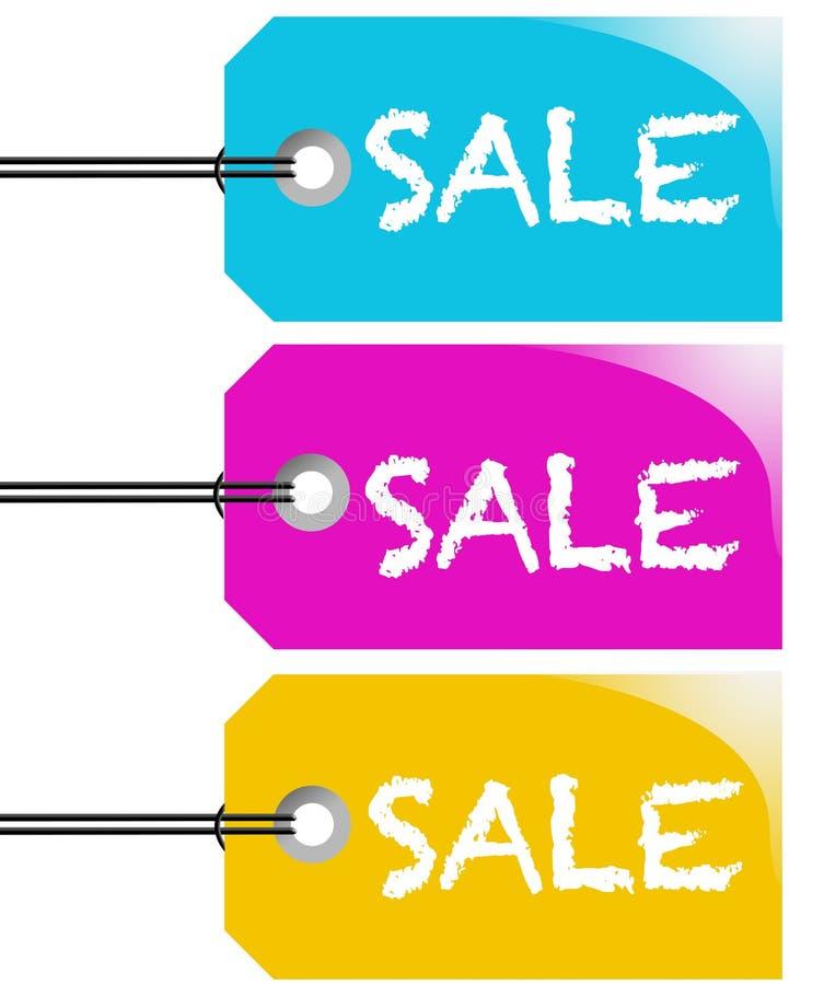 De markeringsvector van de verkoop vector illustratie