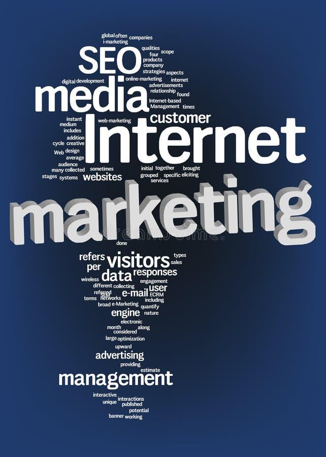 De marketing van Internet tekstwolk stock illustratie